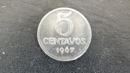Brasil  5 Centavos coin  in mint condition    struck 1967 - $5.20