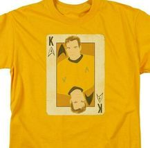 Star Trek Captain James Kirk playing card face anime graphic tee CBS1421 image 3