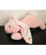 Easter Bunny Rabbit Floppy Pink Plush Stuffed Animal Carrot on Ear 15 in... - $32.55