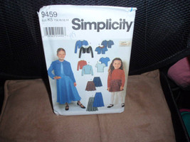 Simplicity 9459 Child Jacket, Skirt and Knit Top Karen Z Designer Size 7 to 14   - $7.99