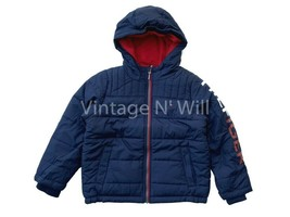 Tommy Hilfiger Youth S ( 7/8) Kids Navy Blue Fleece Lined Hooded Puffer Jacket - $24.99