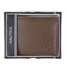 Nautica Men's Bifold Genuine Leather Credit Card ID Passcase Wallet 31NU22X036 image 9