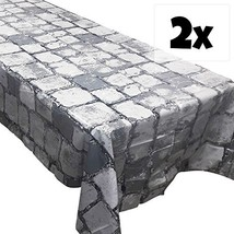 Blue Orchards Cobblestone Tablecovers (2), Medieval Party Supplies, Knig... - $19.99