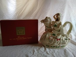 Elf & Rocking Horse Lenox Teapot #6095129 Original Box Porcelain Christmas - $19.79
