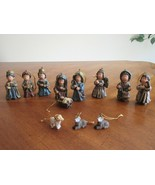 "~3.5"" 12-Piece Nativity Ornaments Figure Set Resin Scene Baby Jesus Dru... - $18.99"