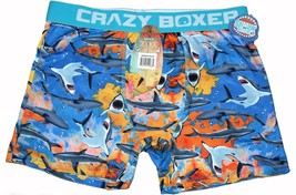 Crazy Boxer Discovery Busy SHARK Week Blue Mens Boxers Briefs NWT Mens S... - $17.99
