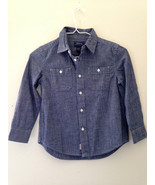 NWT POLO Ralph Lauren Boys' Long Sleeve Blue Cotton Button Up Dress Shir... - $17.40