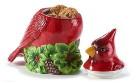 "11"" High Red Cardinal Bird Shaped Ceramic Cookie Jar image 2"