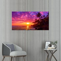 PaintingStyle F1111 Elephant in Water Wall Art Painting Seascape Photogr... - $63.97