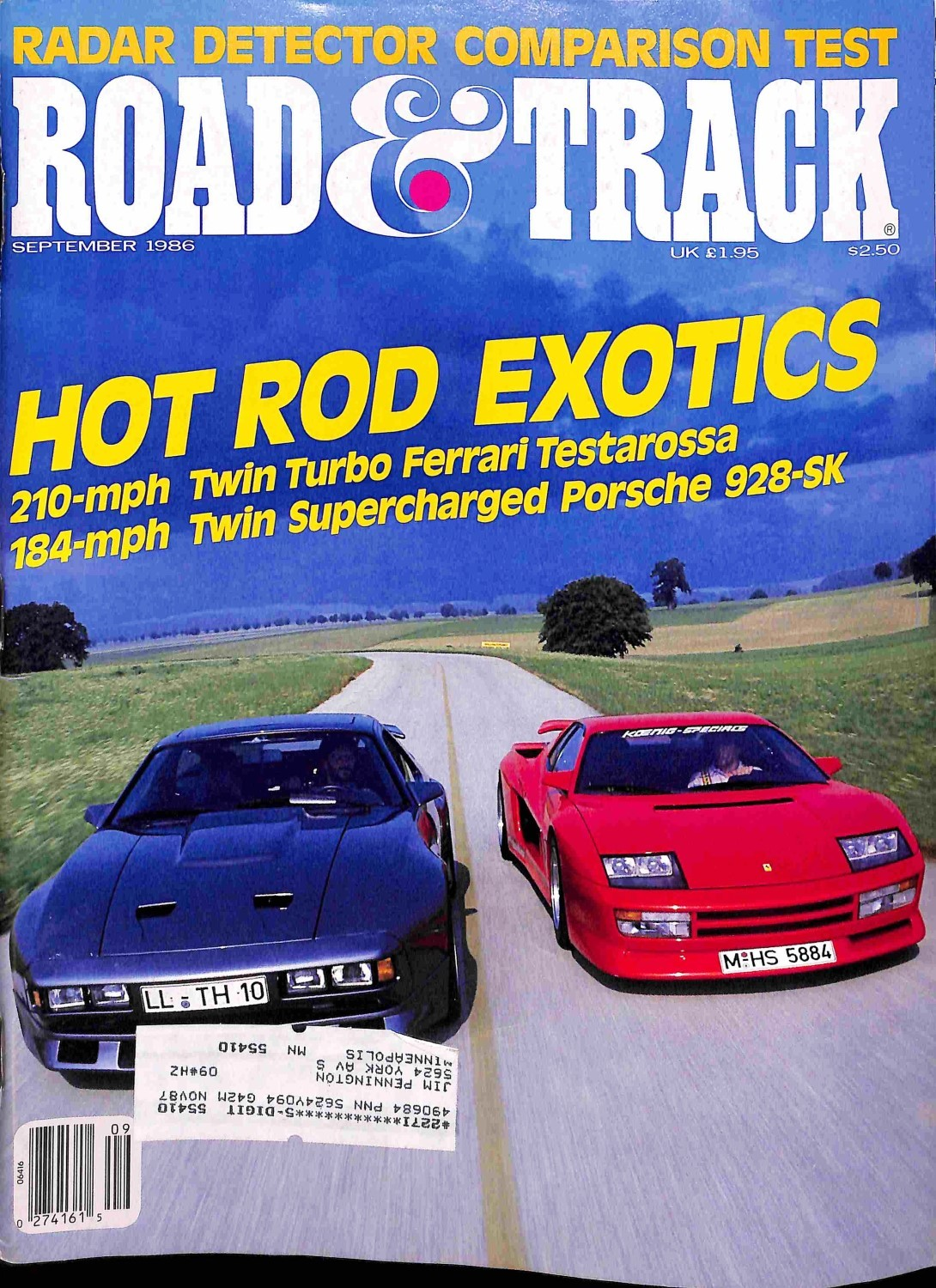 Road and Track, September 1986 - Magazine Back Issues