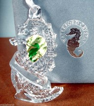 Waterford Crystal Seahorse Ornament Made in Ireland Engraveable 107966 N... - $58.90