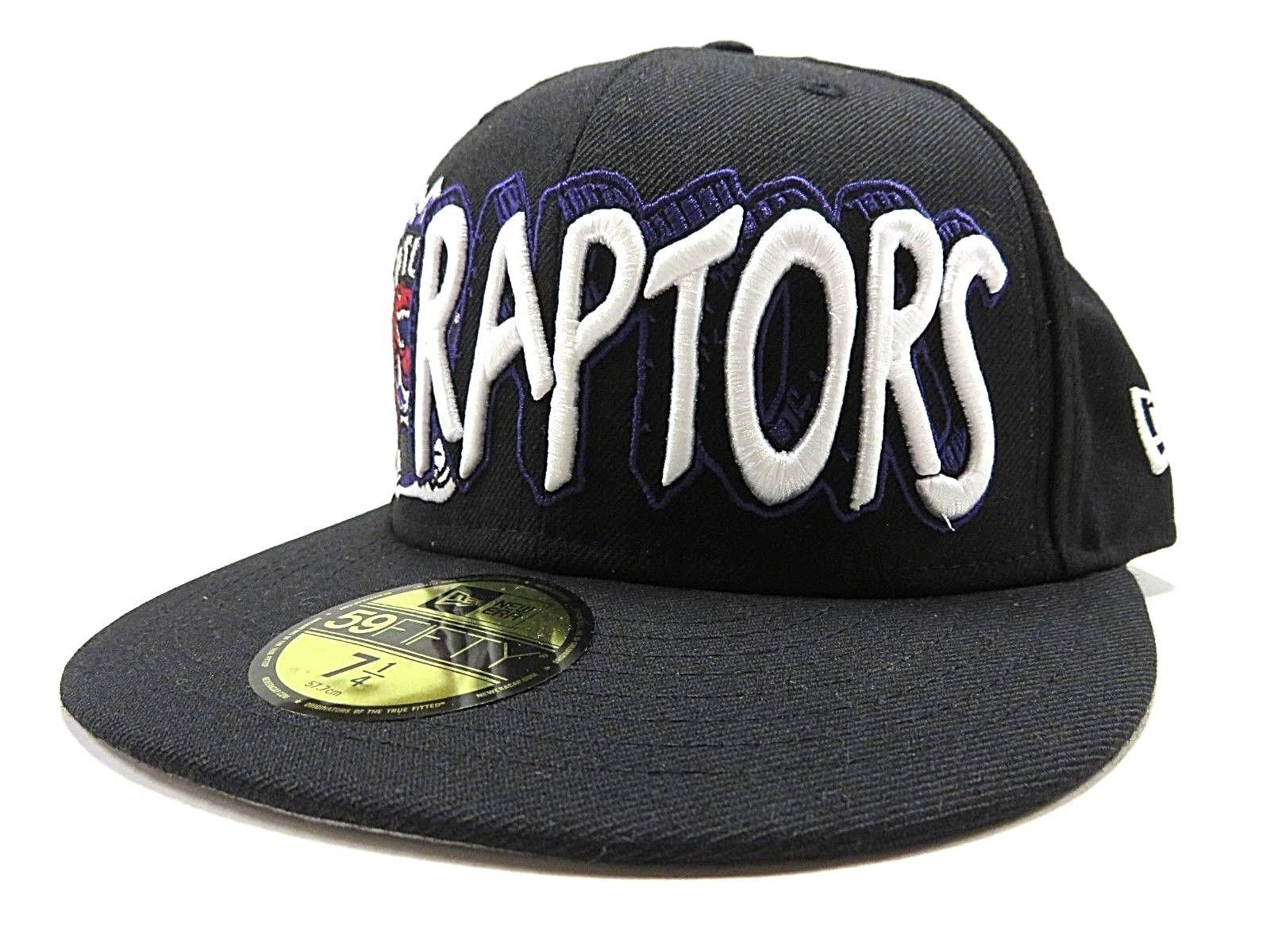 NWT New Era NBA Toronto Raptors Basketball Fitted Hat Adult Size 7 1/4 100% Wool