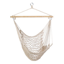 Rope Hammock Chair, Garden Swing Hammock Chair Simple - Recycled Cotton ... - £30.23 GBP