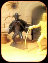 Rare Zorro Sword Fightin w/El Commandante 1950s Stamped Marx 54mm CLEAN ... - $57.82
