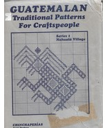 Guatemalan Traditional Patterns for Craftspeople Embroidery Charts Pattern - $17.00