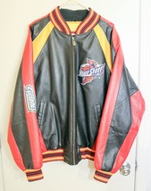 Iowa State Cyclones Mens XL Leather Jacket Coat GIII -Black Red Yellow - $124.99