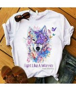 Lupus Awareness Wolf Fight Like A Warrior Ladies T-Shirt Cotton S-3XL - $19.75+