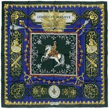 Auth Hermes Scarf LUDOVICUS MAGNUS 90cm Silk Foulard  DE LA PERRIERE - $299.95