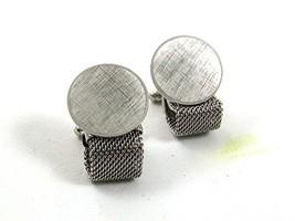 1970's Silver Tone Wrap Around Cufflinks By ANSON 22717 - $24.99