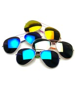 4 Pair Pack BUNDLE Sunglasses Flash Mirror Mirrored Aviator Sunglasses S... - $12.95