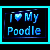 210119B I Love My Poodle Awareness Growling Illustration Adorable LED Li... - $18.00