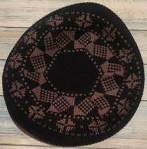"Home-Made ~ Unisex ~ Black/Brown Beret ~ Hat ~ 10"" Diameter ~ 12"" Opening - $22.80"