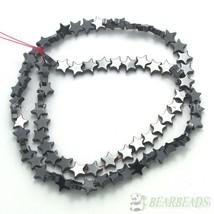 Natural Jet Hematite Gemstones Flat Star Spacer Loose Beads 6mm 8mm 10mm... - $1.88+