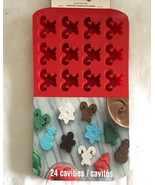 Christmas Candy Cane Silicone Chocolate Treat Baking Mold Bath Fizzies C... - $19.98