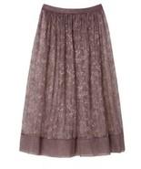 Victoria's Secret Very Sexy Sheer Floral Lace Midi Skirt Half Slip S Coc... - $29.11