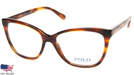New Polo Ralph Lauren Ph 2183 5007 Havana Striped Eyeglasses Frame 56-16-145mm - $98.98