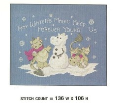 THE SNOWBALL FIGHT   CROSS STITCH PATTERN  ONLY   PY - EYR - $7.47