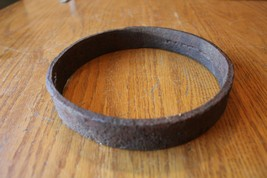 "Wrought Iron Ring O Circle hand made forged apx 7"" x 1"" tool vintage far... - $29.70"