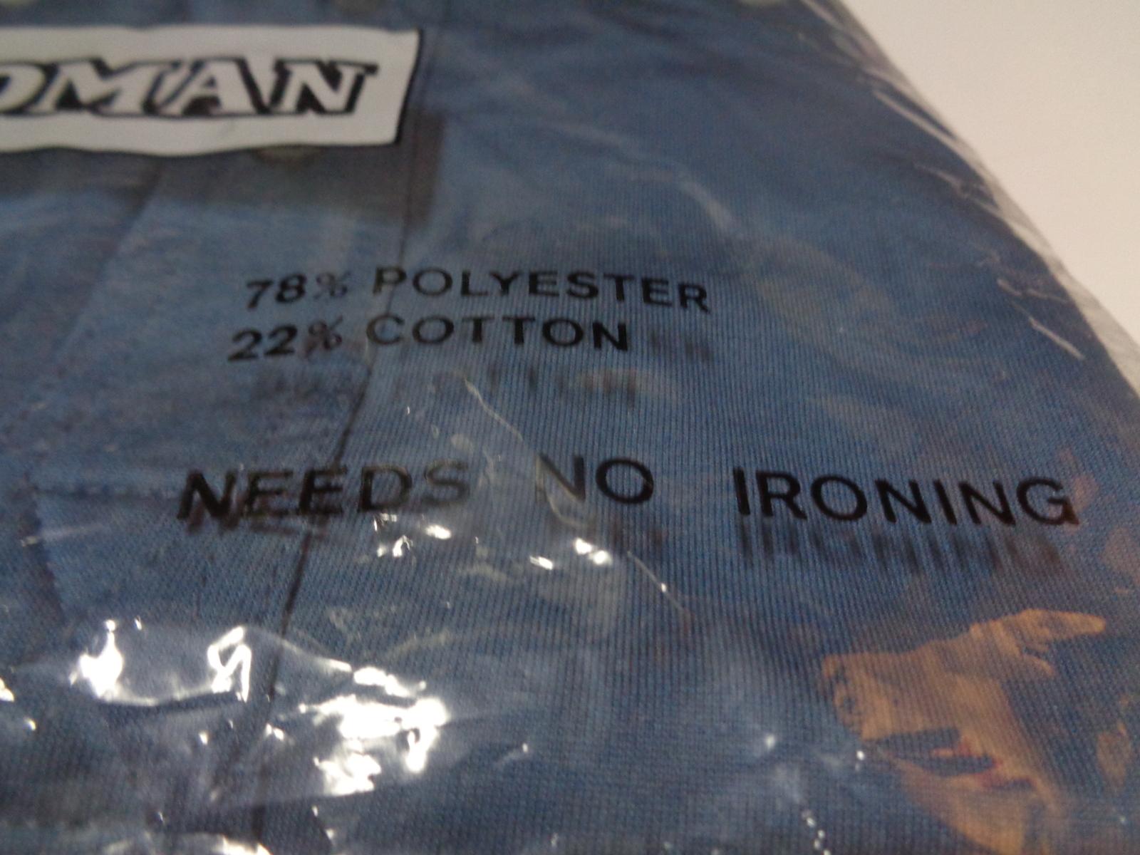 Men's Golf Shirt NWT Ocean Blue Short Sleeve No Iron Goodman Size M