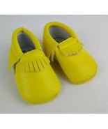 Romirus Yellow Faux Leather Baby Shoes Size 2 Moccasins - $13.10