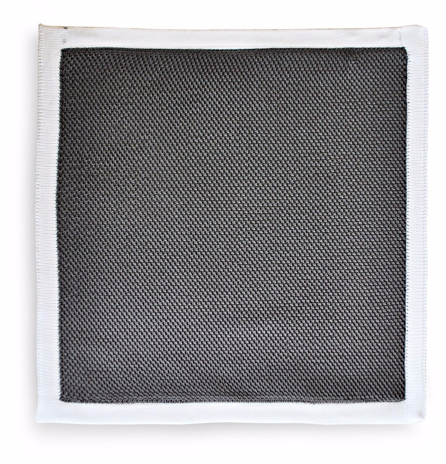 Frederick Thomas knitted pocket square handkerchief in dark grey FT3178