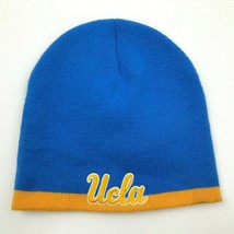 VINTAGE UCLA Bruins Beanie Hat Cap Blue Yellow One Size Knit Embroidered 90's - $21.63