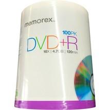 Memorex (100 PAQ) 100 Pack DVD+R 16X 4.7Go 120min NEW, Factory Sealed - $26.99