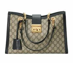 NWT Gucci GG supreme canvas Padlock medium top handle bag ; Rtl $1980 - $1,849.99