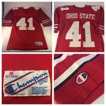 VTG CHAMPION Ohio State Buckeyes #41 Keith Byars Football Jersey Medium Red - $29.69