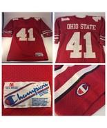 VTG CHAMPION Ohio State Buckeyes #41 Keith Byars Football Jersey Medium Red - $29.69