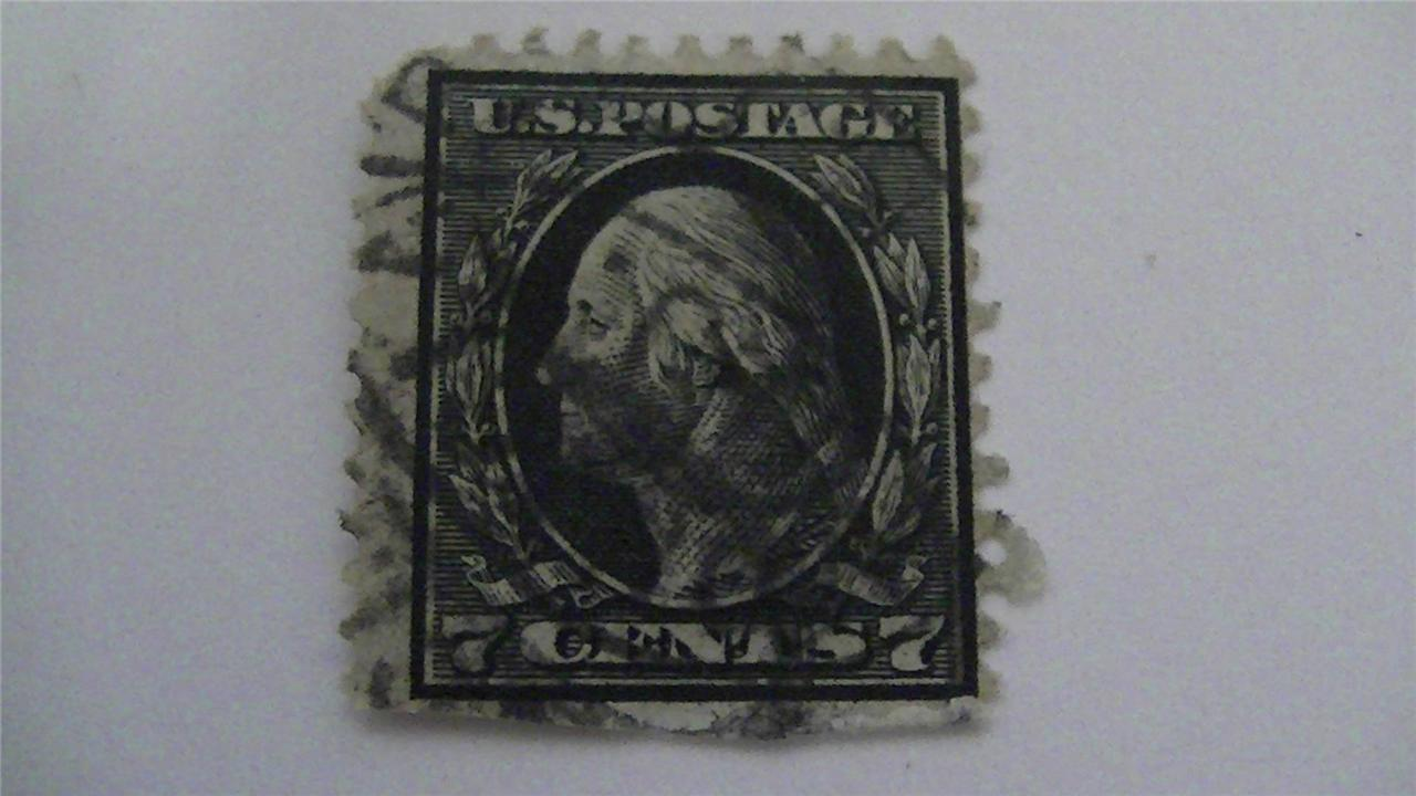 Vintage Black Old USA Used 7 Cent Stamp