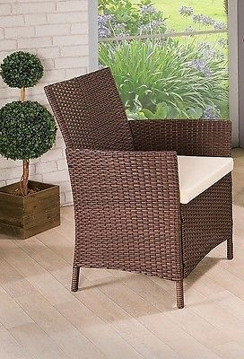 Garden Rattan Set Patio Wicker Furniture 4 Seater & Table Outdoor Indoor 4pcs image 3