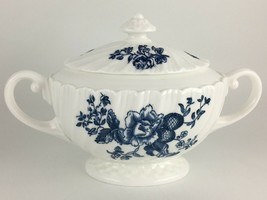 Royal Worcester Blue Sprays Sugar bowl & lid - $40.00