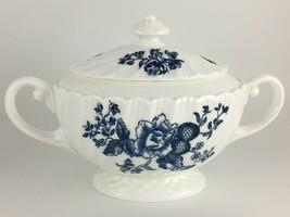 Royal Worcester Blue Sprays Sugar bowl & lid - $40.00