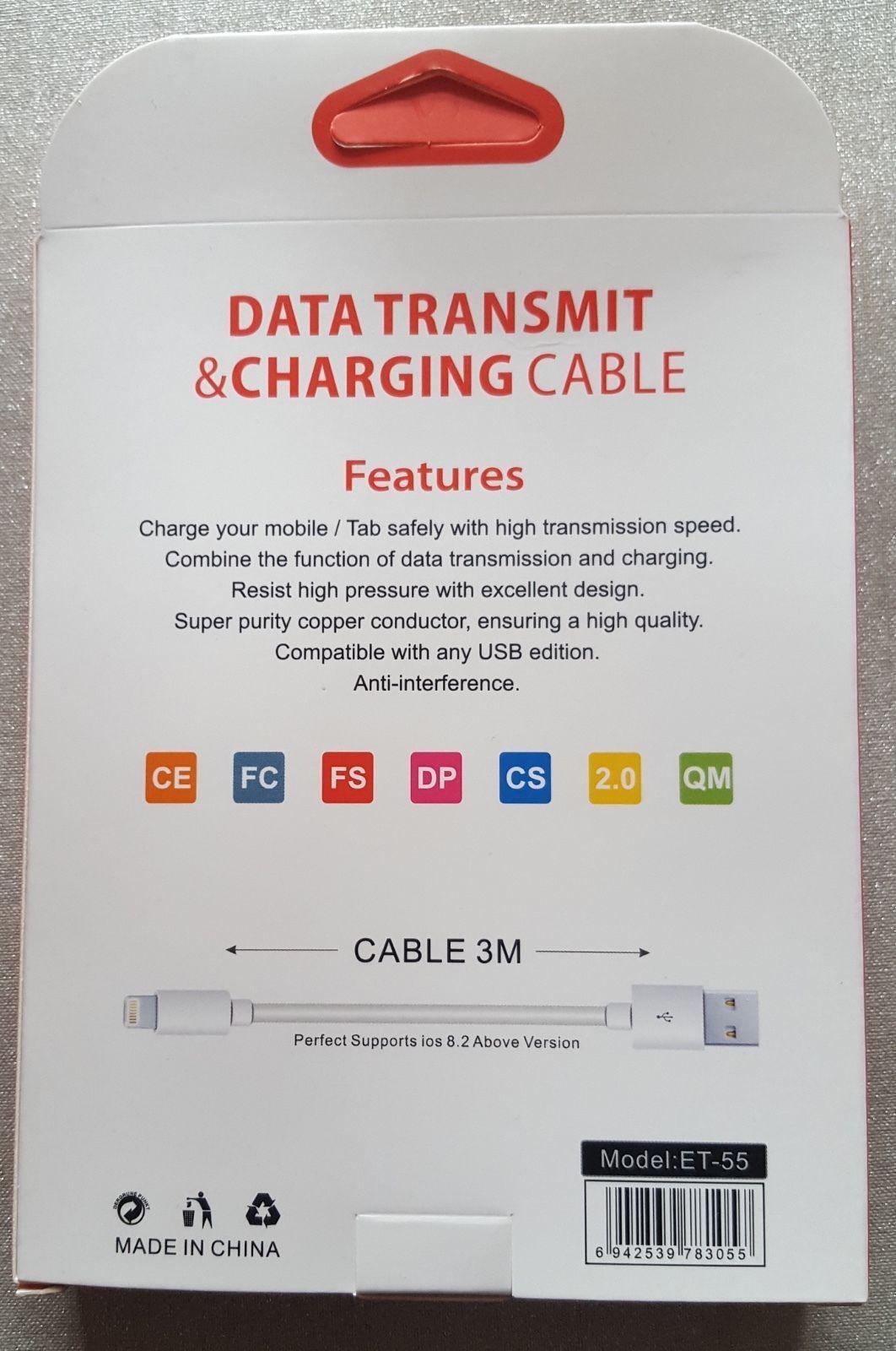3 Mètres 3M Rapide Câble Données USB chargeur pour Samsung S4 5 6 7 Sony HTC LG