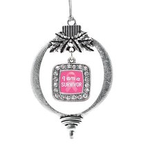 Inspired Silver I am a Survivor Breast Cancer Awareness Classic Holiday Christma - $14.69