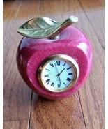 Hand Crafted Onyx Marble (Red Apple Shape Clock) - $9.99