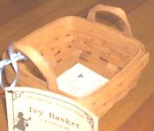 Longaberger Ivy Booking Hostess Appreciation 1996 Basket Plastic Protector Only