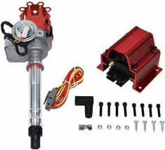 R2R Distributor 50K Volt E-Coil SBC BBC 327 350 396 454 Chevrolet Red Small Cap