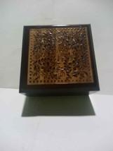 Wooden Cake Box Wedding Party Gift Brown Polish  8.5cm*8.5cm*4.5cm - $2.50